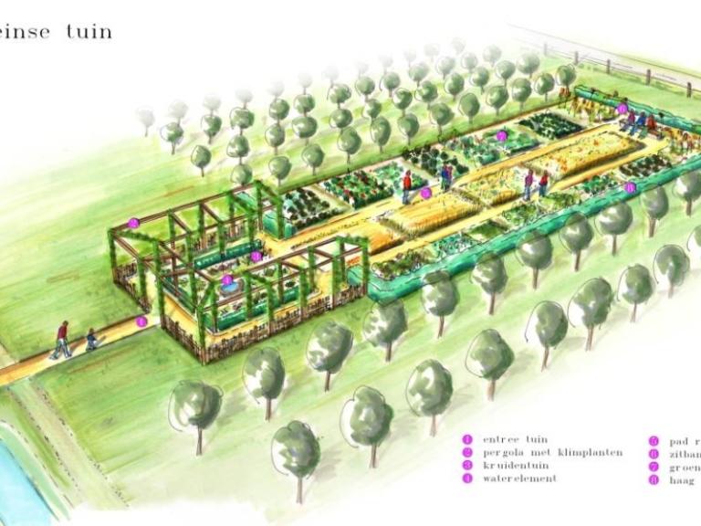 Romeinse tuin in Elderveld