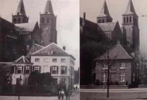 Walburgiskerk voor en na de oorlog.