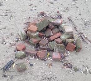 stenen langs Rijn