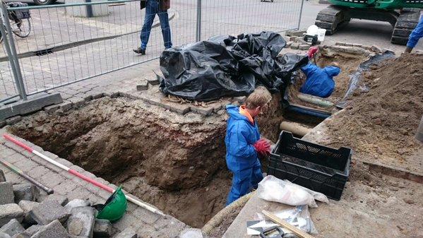 Archeologen aan het werk