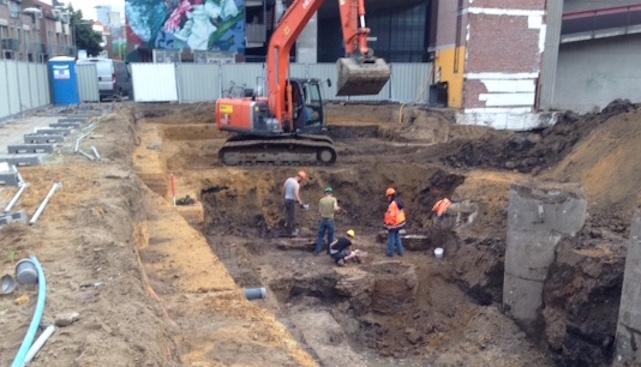 opgravingen Bartókplein